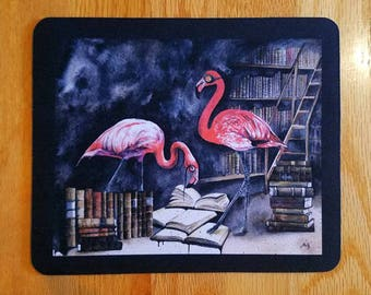SALE! Mouespad - The Curators, Flamingo Watercolour Bird
