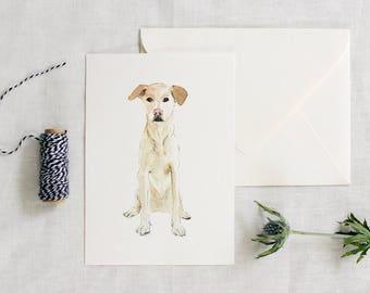 Custom dog watercolor - pet lover - gift