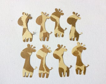 Baby giraffe cut outs die cuts punch outs