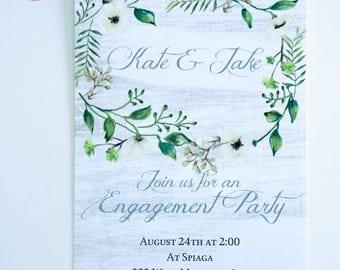 ENGAGEMENT or REHEARSAL DINNER Invitations