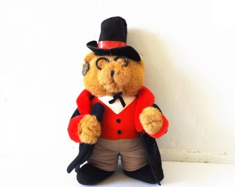Vintage Victorian Teddy Bear Stuffed Animal in Top Hat by Ganz Heritage Collection