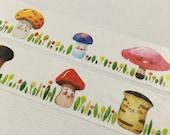 1 Roll Limited Edition Washi Tape: Wild Mushroom World