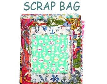 Liberty Fabric 40 Piece Scrap Bag Bundle Patchwork Quilting Floral Patterns Squares Rectangles Oblongs Liberty of London Cotton Tana Lawn