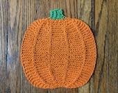 Knitted Pumpkin Dishcloth