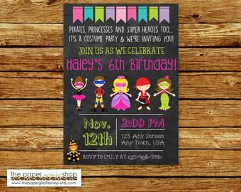 Kids Costume Party Birthday Invitation | Halloween Costume Party | Costume Party Birthday Party Invitation | Costume Party Invitation