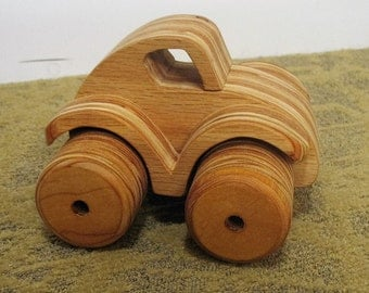 Toy Dune Buggy, All Wood made from Laminated Oak Plywood