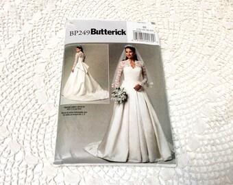 Wedding Dress Pattern, Butterick 249, Kate Middleton Wedding Dress, Uncut, Size 14 thru 20