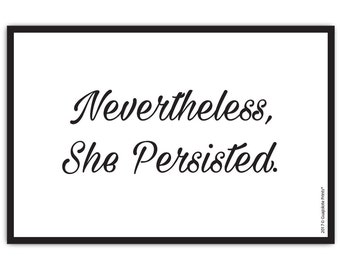 Guajolote Prints Nevertheless She Persisted Mail Postcards - 12 Thick Double Sided Cards, Standard Size 4 x 6 Inch Feminism Gift Idea