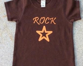 Boy Rock Star Shirt  Shirt 12 18 24 Month Brown Hipster Shirt Brown Shirt