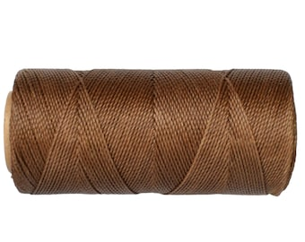 Waxed Cord, Macrame Jewelry Cord, 15 meters/16 yards, Waxed Thread Linhasita cor 362, Knotting String - Iced Coffee