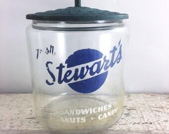 Stewart's Vintage Counter Display Jar