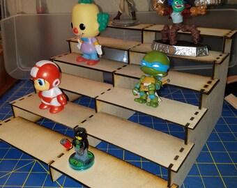 Laser Cut Wood Figure Stand - 6 Levels