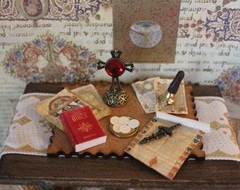 Dollhouse miniature medieval church set number 7
