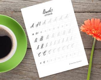 SALE - Brush Lettering: A Calligraphy Workbook - Instant Digital Download