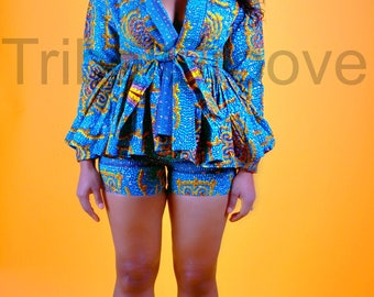 SKY - African Print Shorts Set