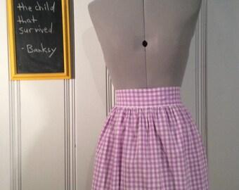 Vintage Purple & White Checkered Apron