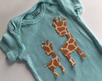 Mama and Baby Giraffe Iron on Appliques - Giraffe Appliques for Baby Shower Craft or Giraffe Quilt