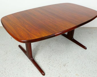 mid century Danish modern Brazilian rosewood Skovby dining table
