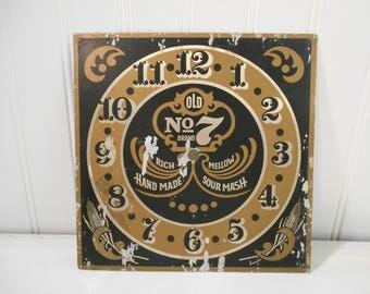 Vintage clock face, Art collage supplies, Antique clock parts, Vintage advertisement, Jack Daniels, Man cave, Tennessee