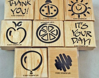 Retired Mint Stampin Up Stamp Set Fanciful Favorites