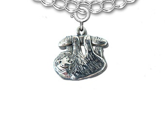 Sterling Silver Sloth Charm