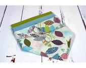 Lot of 3 organic cotton tissues both United and one in pastels leaves, zero waste, ecological and economic reasons.