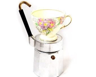 SALE Italian Espresso Coffee Maker,Vintage Coffee Maker, Vintage Coffee Maker OMG for 3-4 mini cups.