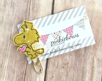 Yellow/Pink/Gold/Love Birdy/Sparkle Applique Paper Clip/Planner Clip/Bookmark/Journal Marker