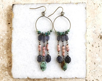 Boho jewelry, Mother's Day gift, gift for her, beautiful jewelry, unique earrings, crystal earrings, spring jewelry, spring fashion