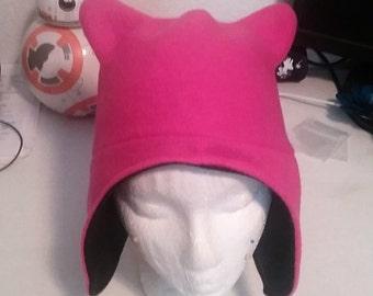 Reversible Fleece Kitty Ear Hat