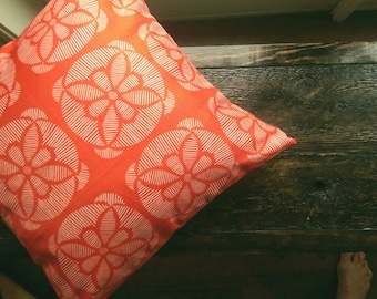 Tangerine Orange Dark Coral Pillow Covers 18x18 Geometric Cushion Covers Tangerine Lumbar Pillow 12x24 Christmas Decor Tangerine and White