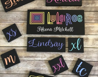 LuLaRoe Custom Painted Sign with reversible tags
