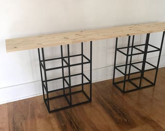 Desk console coffee table side table bases