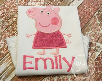 Peppa Pig Birthday Custom Tee Shirt - Customizable -  Infant to Youth 254