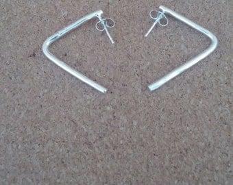 Geometric earrings, Stud earrings,Silver earrings, Geometric jewelry,Minimalist earrings,Statement earrings, Simple earrings, Modern earring