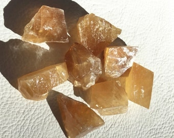 Honey Calcite Crystal, Mineral, gemstone, metaphysical, new age