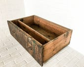 Salvaged Workbench Drawer on Casters Primitive Storage under Bed Rustic Decor