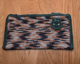 Makeup purse - Dark green and multicolored - Siz: 22 * 11 cm