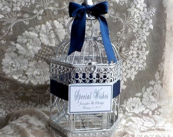 Wedding Wishing Well, Silver Wishing Well, Bird Cage Card Holder, Silver Birdcage Card Box, Shower Supplies, Wishing Well, Bridal Shower