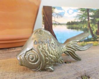 Brass Goldfish Paperweight
