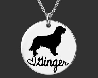 Golden Retriever Necklace | Golden Retriever Jewelry | Personalized Dog Necklace | Personalized Gifts | Korena Loves