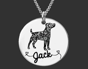 Jack Russell Terrier Necklace   Jack Russell Terrier Jewelry   Personalized Gifts   Korena Loves
