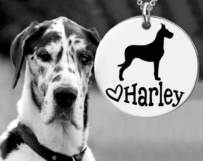 Great Dane Necklace | Great Dane Jewelry | Personalized Dog Necklace | Personalized Gifts | Korena Loves