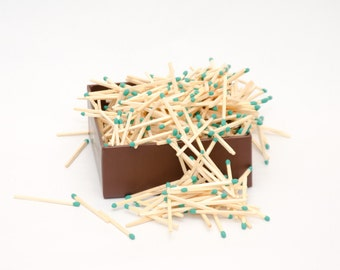 Lush meadow green tip wooden matches for wedding, matchhouse making, matchbox filling, crafts