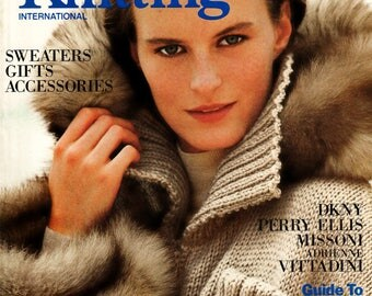 3 Issues Retro 90's Vogue Knitting International Magazine  Out-of-Print Designer Knit Patterns & Instructions Knitting Supply Fiber Arts