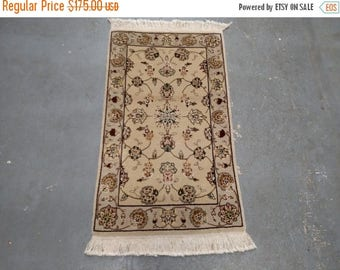 CLEARANCE 1990s Hand-Knotted, Vintage Sino-Tabriz Rug (1002)
