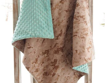 U.S. Marine Desert Camo Baby Blanket