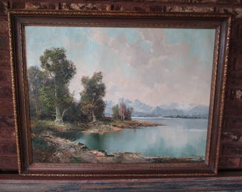 Vintage Original Landscape Painting | Oil on Canvas | Ingfried Henze/ Paul Morro | Fine Art | Gallery | Home Decor | Wall Hanging | Rare