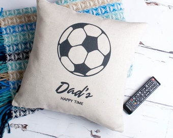 Personalised Football Fan Custom Made Pillow Cushion Cover Quality Linen Cotton