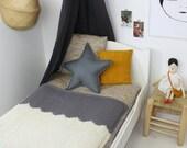 Baby Blanket Scallop Neutrals for Crib Cot Baby Blanket